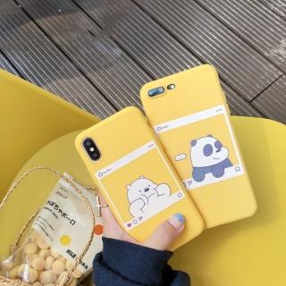 Ốp Lưng Silicon Gấu Instagram