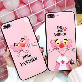 Ốp Lưng Kính Cường Lực Pink Panther