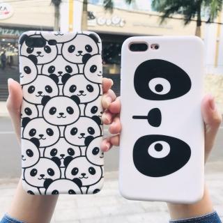 Ốp Lưng Silicon Mặt Gấu Panda