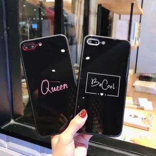 Ốp Lưng Kính Cường Lực Queen - Be Cool