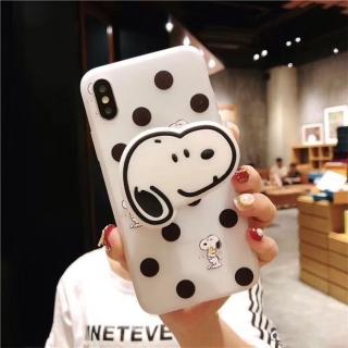 Ốp Lưng SIlicon Snoopy - Kèm Phụ Kiện