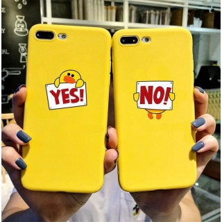 Ốp Lưng Silicon Vịt Yes No