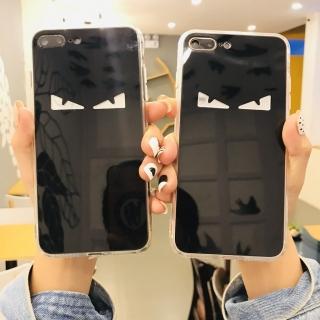 Ốp Lưng Đôi Mắt Gương 3D - Lưng Silicon Giả Kính, Chữ Gương