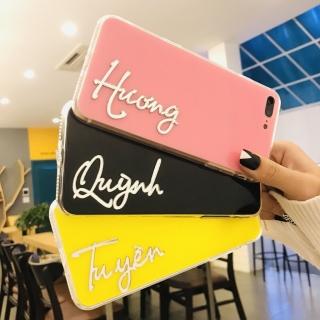 Ốp Lưng Tên Gương 3D - Lưng Silicon Giả Kính, Chữ Gương - Chỉ 1 Tên (IPHONE, SAMSUNG, OPPO)