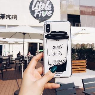 Ốp Lưng Coffee - Ốp Silicon - Kim Tuyến Nước Chảy