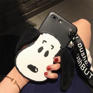 Ốp Lưng Silicon Chó Snoopy - Kèm Dây như hình