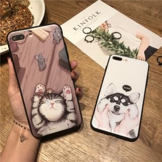 [ IPHONE ] Ốp Lưng Silicon Chó Mèo