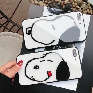 Ốp Lưng Kính Cường Lực Snoopy