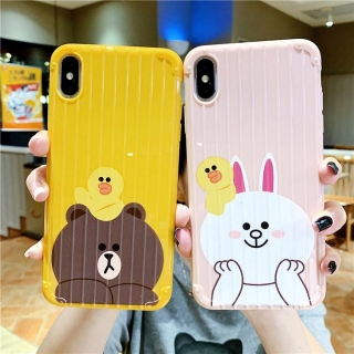 Ốp Lưng Sọc Nổi Brown and Cony