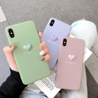 Ốp Lưng Silicon Tim Nổi Be Loved