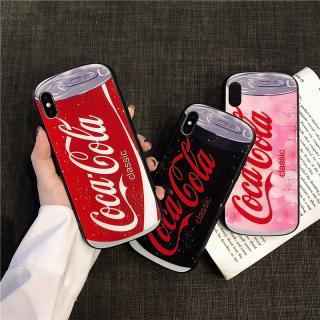 Ốp Lưng Kính Cường Lực Viền Cong Coca