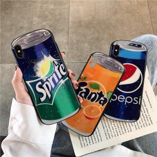[ IPHONE ] Ốp Lưng Kính Cường Lực Viền Cong Beverage