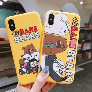 Ốp Lưng Silicon We Bare Bears