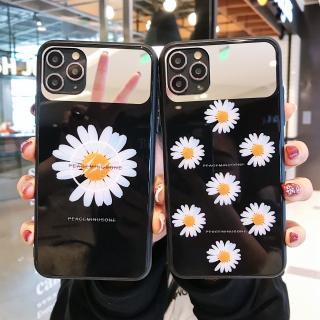 Ốp Lưng Kính Cường Lực Daisy Flower - Lens Gương