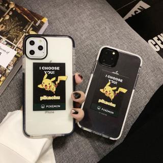 [ IPHONE ] Ốp Lưng Viền Màu Chống Sốc Pikachu
