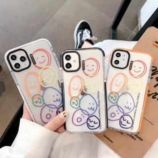 [ IPHONE ] Ốp Lưng Viền Màu Chống Sốc Emoji Stikers