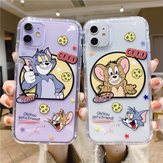 Ốp Lưng Silicon Chống Sốc Tom x Jerry