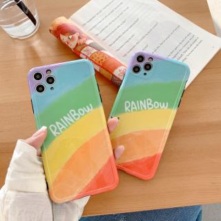 [ SALE LỖ ] Ốp Lưng Silicon IMD Bảo Vệ Camera Rainbow