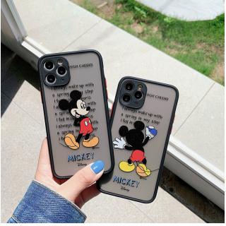 Ốp Lưng Nhám Chống Sock, Va Đập Bảo Vệ Camera Mickey Mouse