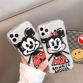 [ IPHONE ] Ốp Lưng Viền Cong Silicon Trong Suốt Chống Sock, Va Đập Mickey