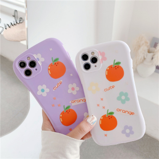 [ IPHONE ] Ốp Lưng Viền Cong Silicon Chống Sock, Va Đập Bảo Vệ Camera Orange
