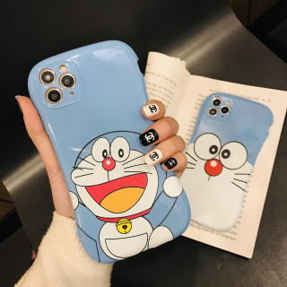 [ IPHONE ] Ốp Lưng Viền Cong Silicon Chống Sock, Va Đập Bảo Vệ Camera Doraemon