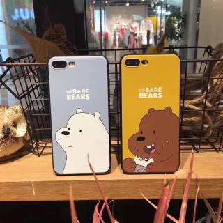 [ IPHONE ] Ốp Lưng Silicon Bare Bears