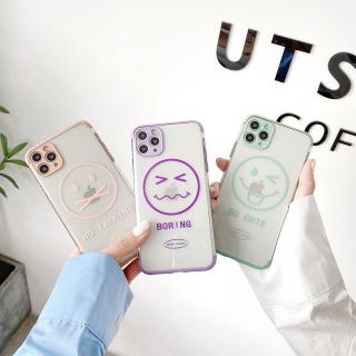 Ốp Lưng Silicon Trong Suốt Mạ Viền Bảo Vệ Camera Emotion Face