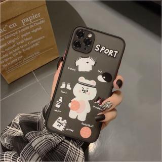 Ốp Lưng Nhám Chống Sock, Va Đập Bảo Vệ Camera Bear Sport
