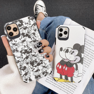 Ốp Lưng Da IMD Mickey x Minie