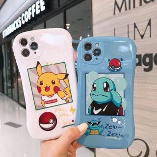 [ IPHONE ] Ốp Lưng Viền Cong Silicon Chống Sock, Va Đập Bảo Vệ Camera Pokemon