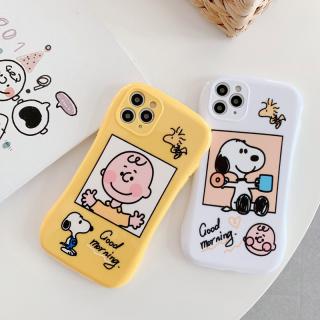 [ IPHONE ] Ốp Lưng Viền Cong Silicon Chống Sock, Va Đập Bảo Vệ Camera Cạu Bé x Snoopy