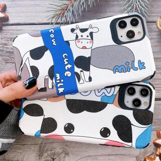 Ốp Lưng Da IMD Cute Cow