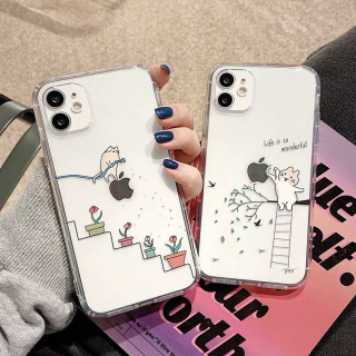 [ IPHONE ] Ốp Lưng Silicon Chống Sốc Cat Wonderful