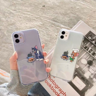 [ IPHONE ] Ốp Lưng Silicon Chống Sốc Chef Tom x Jerry