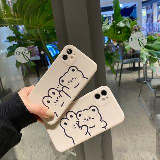 [ IPHONE ] Ốp Lưng Silicon Màu Bảo Vệ CAMERA Couple Bear