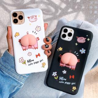 Ốp Lưng Silicon Hình Nổi Cute Piggy Girl
