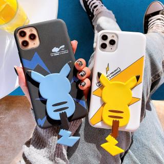Ốp Lưng Silicon Hình Nổi Kèm Giá Đỡ Họa Tiết Pikachu