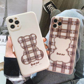 Ốp Lưng Silicon Màu Bảo Vệ CAMERA Cute Bear Caro