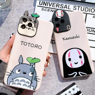 Ốp Lưng Silicon Màu Bảo Vệ CAMERA Kaonashi x Totoro