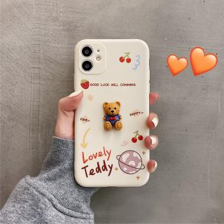 Ốp Lưng Silicon Bảo Vệ CAMERA Hình Nổi Lovely Teddy