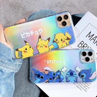 Ốp Lưng Silicon Chống Sốc Stitch X Pikachu ( Kèm Miếng Phản Quang )