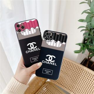 Ốp Lưng Nhám Chống Sock, Va Đập Bảo Vệ Camera Chanel Cigarette